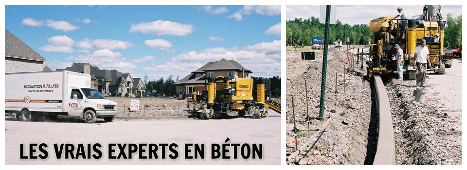 Les vrais experts en béton - Construction de bordure